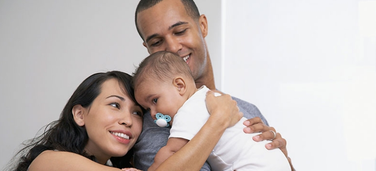 Parents with infant daughter