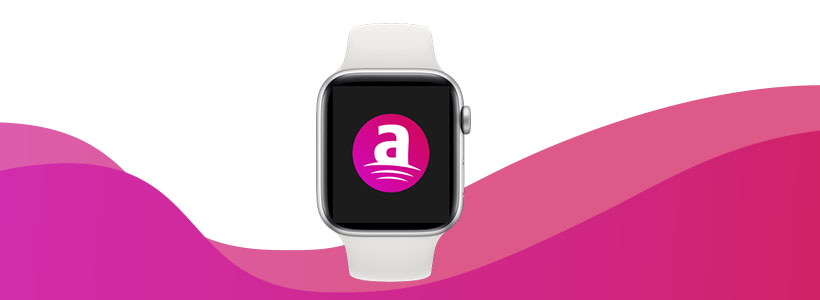 apple watch with aetna logo on screen